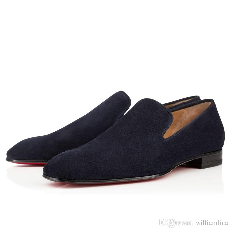 Gentleman Party Bussiness Dress Slip On Loafers Shoes Dandelion Sneaker Red Bottom Oxford Luxury Uomo Leisure Fashion Flat