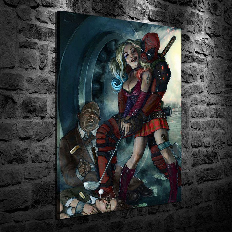 Acheter deadpool harley quinn d coration de la maison - Deadpool harley quinn notebook ...