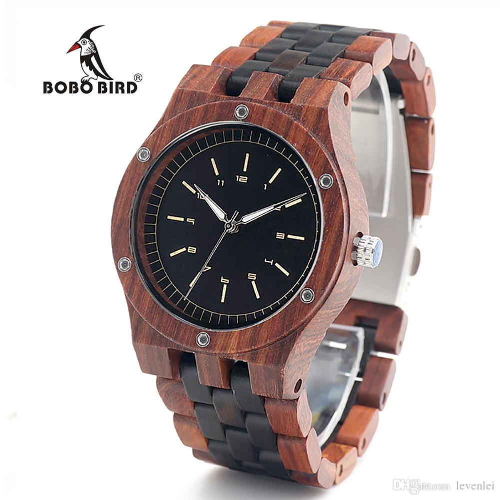 grain band wood watches with dp leather genuine brown natural com mens watch zebra wooden handmade amazon