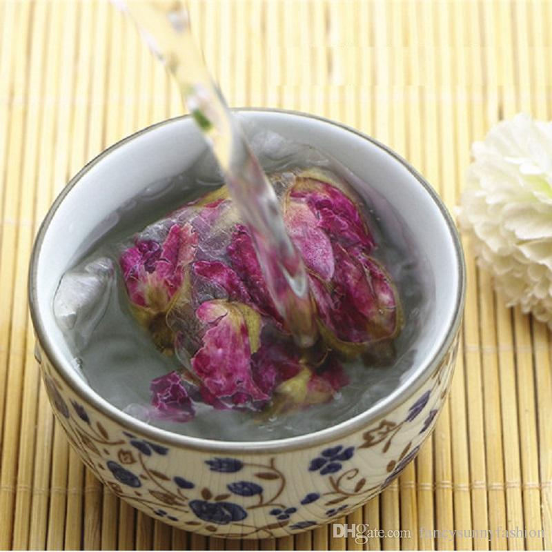 100 unids bolsas de té vacías de calidad alimentaria fibra de maíz hecho filtro único cordón bolsas de té fibra de PLA desechable infusor de té 6 * 8 cm precio barato