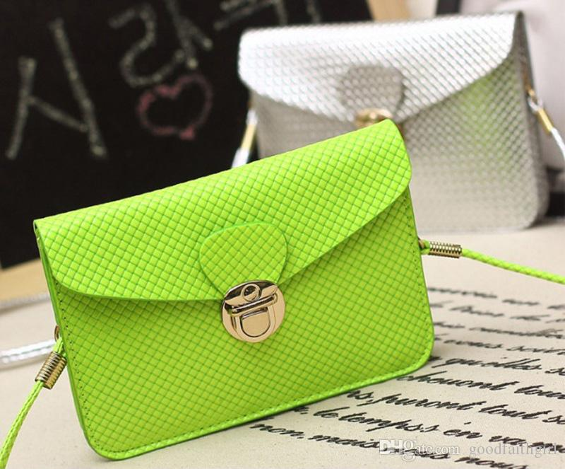 Girl PU Leather Button Clutch Wallet coin Purse Handbag Mini Cross-Body Bag Phone case messenger bag
