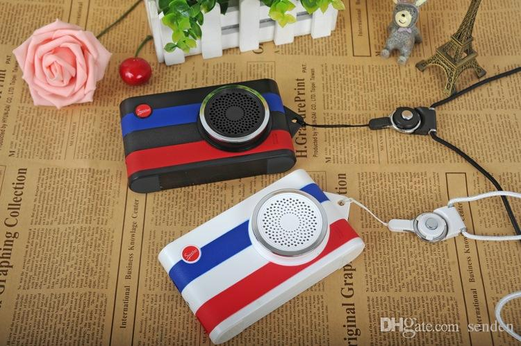 Multifunction 4 in 1 Camera Style Bluetooth Speaker with Remote Selfie timer,Phone Power bank,hand-free Micphone wireless portable subwoofer
