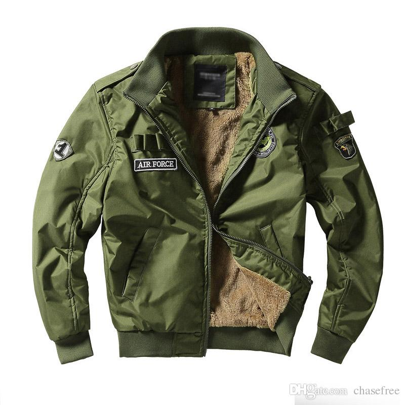 30fd5e926f1 Men Army Tactical Jackets Military Style Clothes Men Winter Thick Pilot Coat  US Army 101 Air Force Bomber Jacket Coat Fur Leather Jacket Outerwear For  Men ...