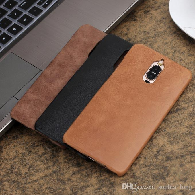 premium selection 1bdc0 47651 Mate 9 Case for Huawei Mate 9 Pro Cell Phone Cover Genuine Leather Cases  Mate9 Pro Back Case Business Phone Protector