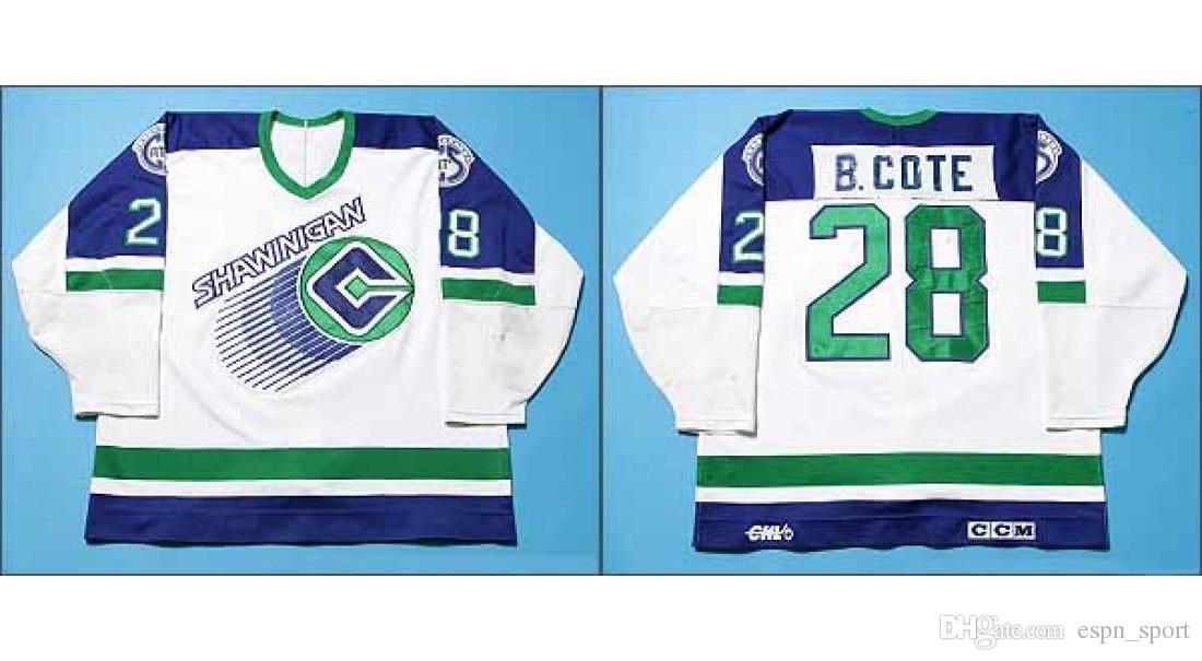 Customize QMJHL Shawinigan Cataract Mens Womens Kids 28 Benoit Cote White Hockey  Jerseys Goalit Cut High Quality Jerseys Hot Sale 28 Benoit Cote Jerseys ... 51c3b5c82