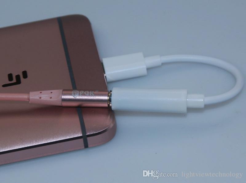 Tipo-c a 3,5 mm conector de audio jack jack de audio aux. A adaptador de auriculares de 3,5 mm para Note 8 S8 S7 edge