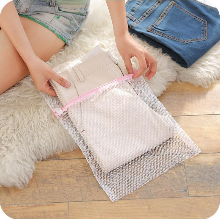 clothes washing machine specialized zippered underwear bra laundry bags white lingerie mesh net washing bags pouch washing care