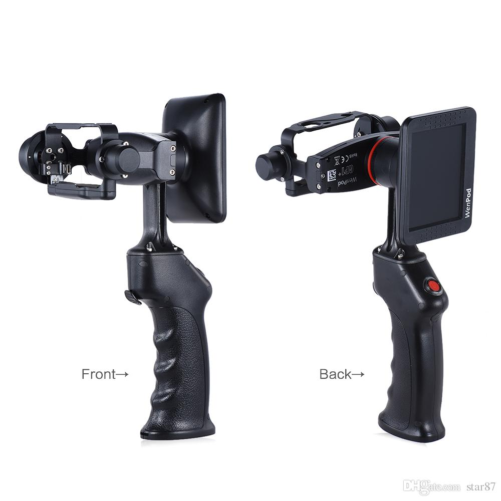 "DHL Original WenPod GP1+ Adventure Camera Stabilizer Handheld Gimbal with 3.5"" LCD Built-in Monitor for GoPro Hero 3 3+ 4 Action Cameras"