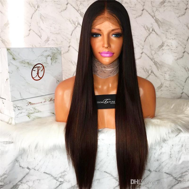 100% Brazilian Virign Remy Human Hair 10-26 inch STOCK Silky Straight African American Glueless Full Lace Wig &Front Lace Wig
