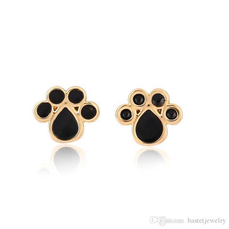 New Arrival Fashion Cute Dog Cat Paw Stud Earrings Animal Paw Print Stud Earrings Dog Paw Earring Women Gift Jewelry