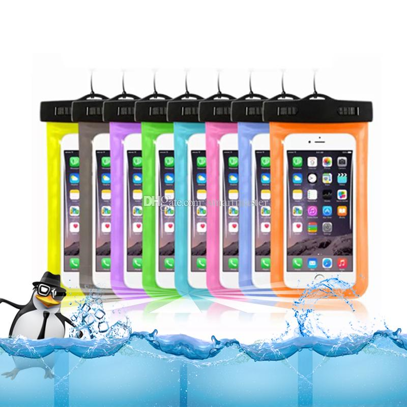 Hot sale Transparent outdoor PVC plastic waterproof case sport protection universal dry case for iphone6 6P S8 any smartphone