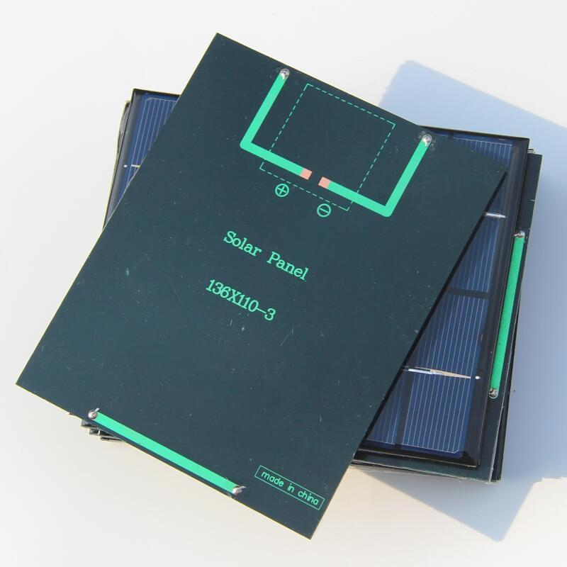 2w 6v polykristalline Solarmodul Zelle DIY Solar System Modul 5 teile / los Freies Verschiffen