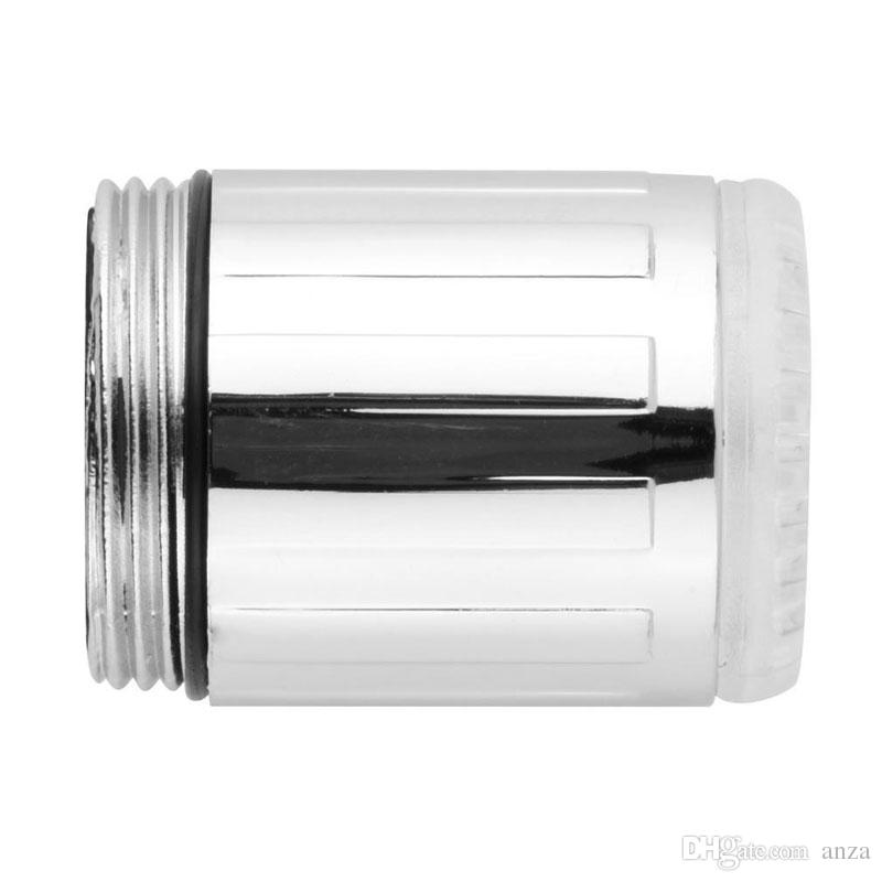 Yeni Yaratıcı Moda LED Su Musluk Akış Işık 7 Renk Değiştirme Glow Duş Dokunun Başkanı Mutfak Sıcaklık Sensörü sıcak satış