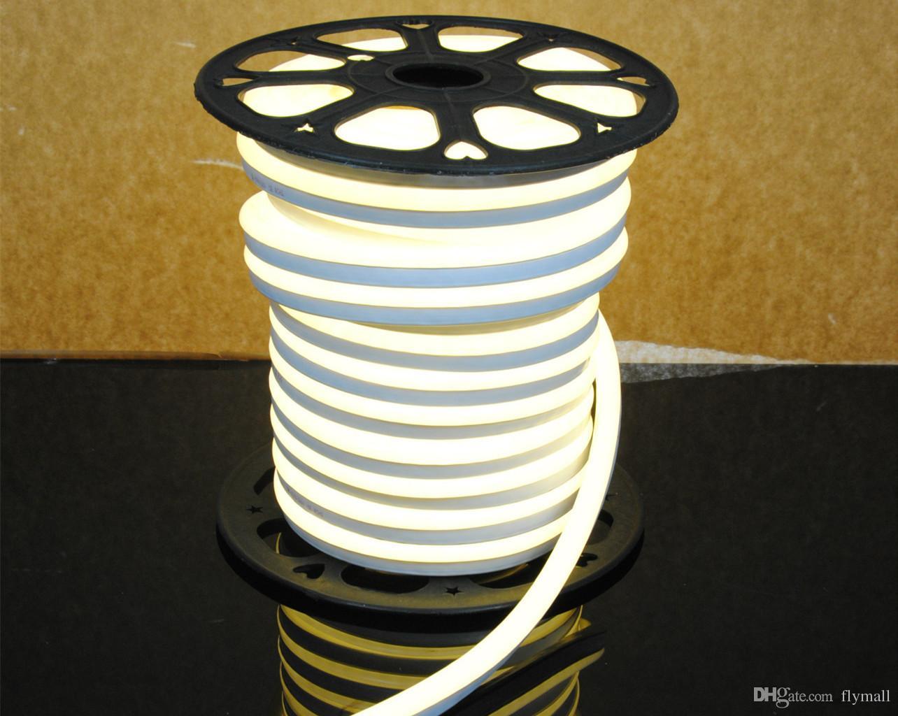 110V 220V LED Neon Flex Rope Light étanche 80LED / M Tube néon à LED Lumière de bande flexible d'intérieur Éclairage extérieur Décoration de Noël