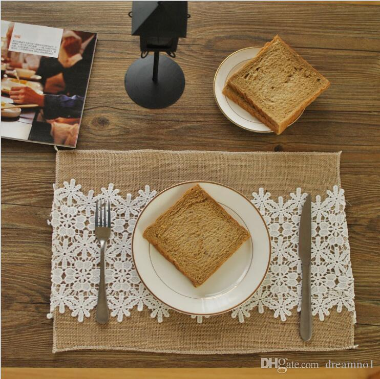 2017 retro lace washable non slip heat insulation table mats cotton linen fabric placemats for kitchen table wholesale from dreamno1 3619 dhgatecom. beautiful ideas. Home Design Ideas