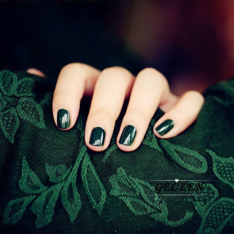 Wholesale Candy Lover Dark Green Color Gel Nail Polish 8ml Hot Nail ...