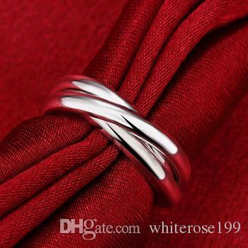 Commercio all'ingrosso - regalo di Natale di prezzi più bassi al minuto, trasporto libero, nuovo anello di modo d'argento 925 yR167