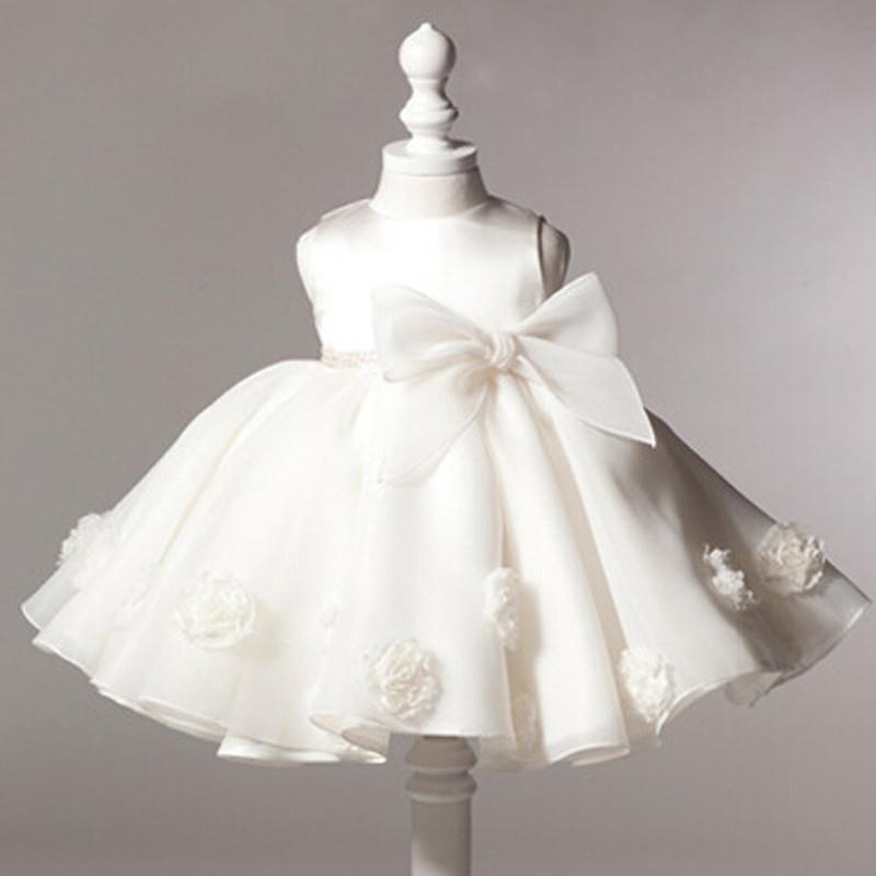 Compre Al Por Mayor 2016 Verano Bebé Niña Vestidos De Bautizo 1 Año Vestido  De Cumpleaños Big Bow Moda Tutú Vestidos De Bautismo De Boda A  54.24 Del  ... bad13e4b6ed8