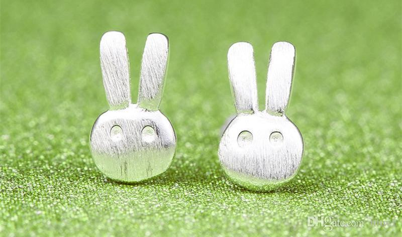 925 Sterling Silver Ear Studs For Women Ladies Fashion Jewelry Lovely Rabbit Sheep Birds Animals Earrings Accessories Gift