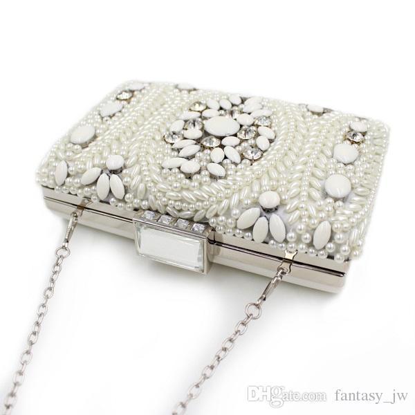Ladies Handbag Beads Diamond Beaded Evening Bag Hand Bag Party Bride Cheongsam Ajustable Party BD074