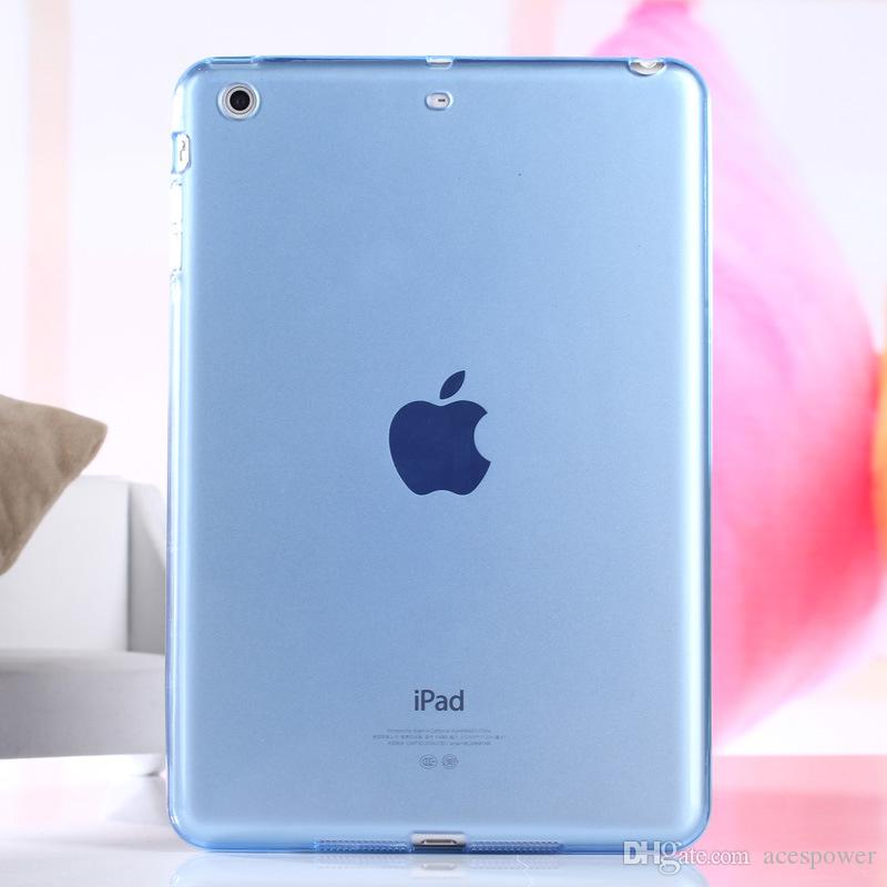 Para Ipad Air2 Mini 5/4 Ipad Pro TPU transparente transparente suave funda de silicona contraportada delgada para Apple Ipad6