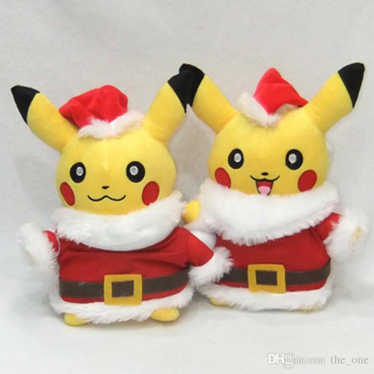 new style pikachu plush toys santa claus christmas gift for children 28cm kawaii toys pikachu stuffed plush doll baby kids toy pikachu plush pocket monster - Christmas Plush Toys