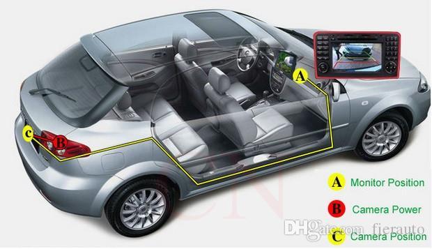 Car Backup CMOS NTSC System Camera Waterproof Reversing Backup IR LED Night Vision Car Rear View Camera