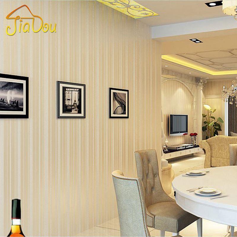 Modern Stripe Glitter Wallpaper 3d Breathable Non Woven Flocking ...