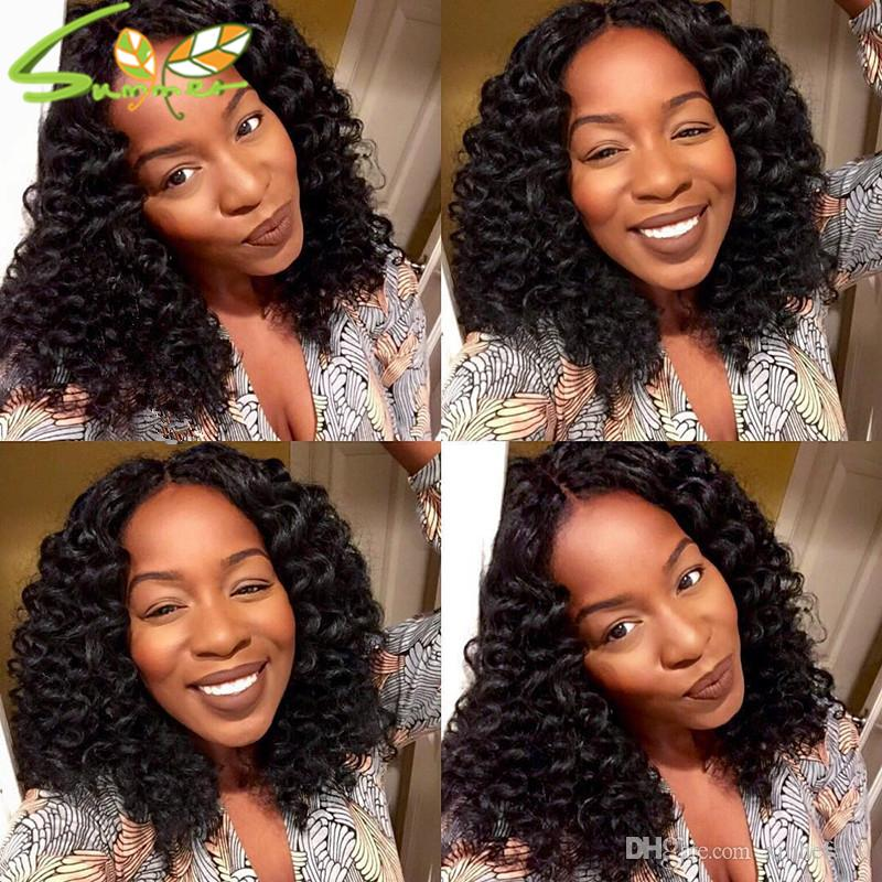 Curly Human Hair Full Lace Wigs High Density Front Lace Wigs Glueless Malaysian Virgin Full Lace Wig With Baby Hair Black Women