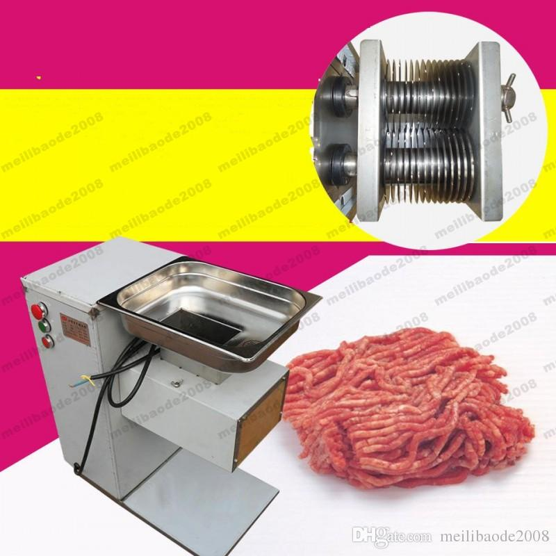 240v vertical type QE meat cutting machine, 500kg/hr meat processing machine 2.5mm and 5mm blades MYY