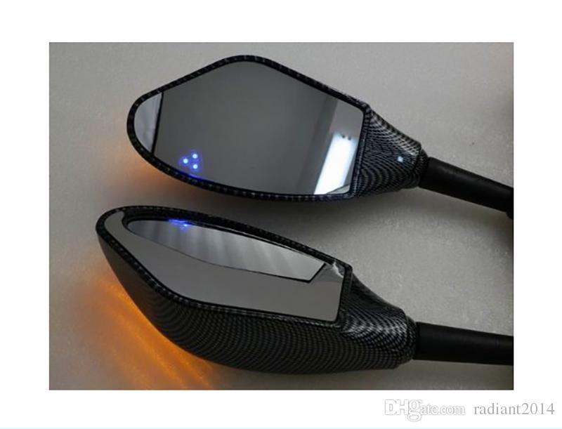 Specchietto integrato frecce turbo del motociclo YAMAHA YZF-R1 R1 1998 1999 2000 2001 R6S R6 SPECCHI LED DI SEGNALE TURNO