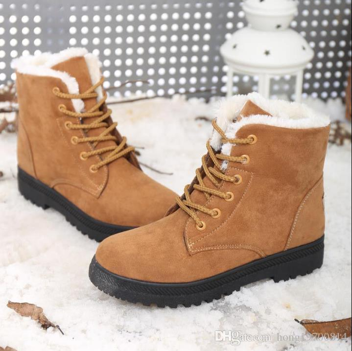 4cd4dad3aeb Hot sales 2018 Women Winter Boots Suede Warm Platform Snow Ankle Boots  Women Casual Shoes Round Toe Female Botas Mujer