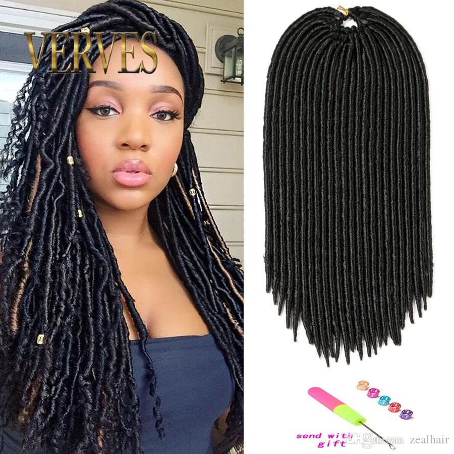 18 Inch Faux Locs Crochet Hair 130g 24 Roots/Piece Dreadlocks Braids Havana  Mambo Twist Crochet Braid Hair Dread Hair Extensions Bulk Weave Human Hair  Bulk ...
