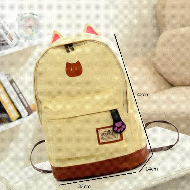 Miyahouse Canvas Backpack Women Casual School Backpacks For Teenage ... 93478f303a699