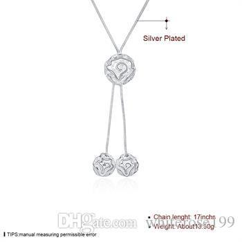 Wholesale  - 小売 - 小売価格クリスマスギフト925シルバーファッションジュエリー送料無料ネックレスN036