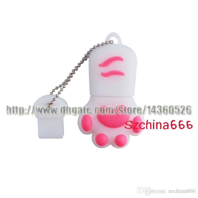 Cute Cat Paw USB Flash Drive Low Price Promotion Cheap Pendrives 1GB 2GB 4GB 8GB 16GB 32GB Memory Stick For Gift And Toy