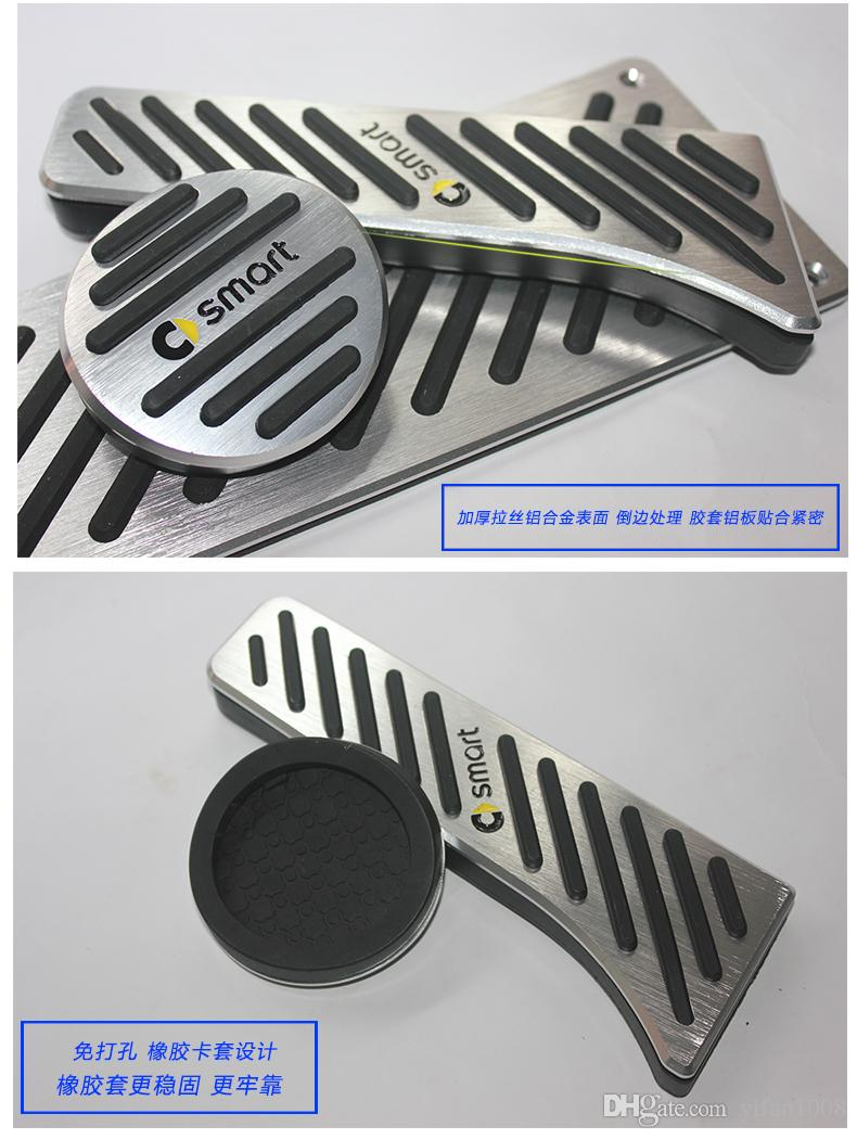 Aluminum Car Accessories For Benz Smart Fortwo Elf 2009-2014 Gas Brake Accelerator Foot Rest Pedal Pad,Styling Sticker Cover