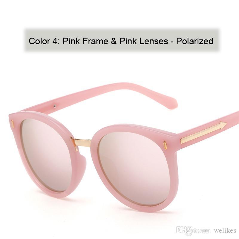 2017 مرآة الاستقطاب kw السهم النظارات الشمسية الحصاد العلامة التجارية مصمم النظارات النساء kw نظارات أسود أحمر / نظارات خضراء