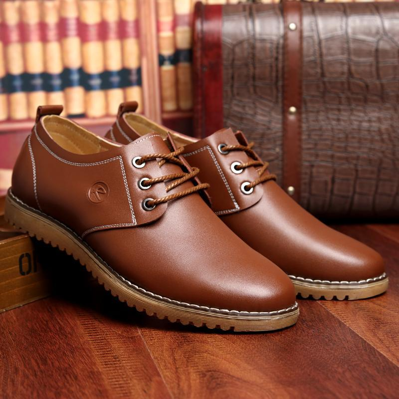 f84a4ec011bc1 Wholesale- Male Plush Business Office Dress Round Toe Leather Shoes ...