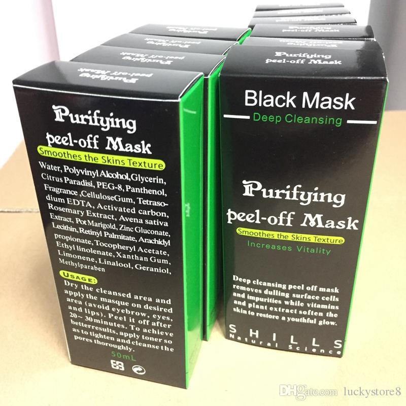 SHILLS Tiefenreinigung Schwarze Maske Porenreiniger 50ml Reinigende Peel-Off Maske Mitesser Gesichtsmaske abziehen