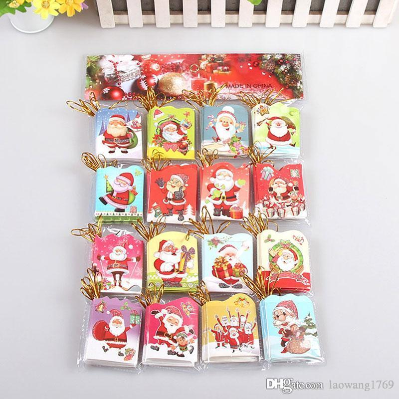 Flash powder 16 different styles of santa claus mini greeting cards flash powder 16 different styles of santa claus mini greeting cards message card christmas holiday blessing card cards of birthday cards online from m4hsunfo