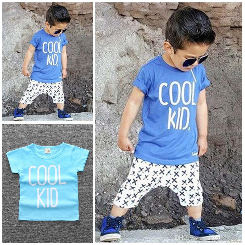 43593a3a67c Baby Clothes Boys INS Newborn Cotton Casual Letter COOL KID Printed ...