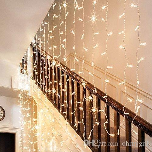 Cheap Led Curtain String Lights, 300 Leds Curtain Icicle Lights String  Fairy Lights With 8 Lighting Modes Safest Low Voltage For Decor Red String  Lights ...