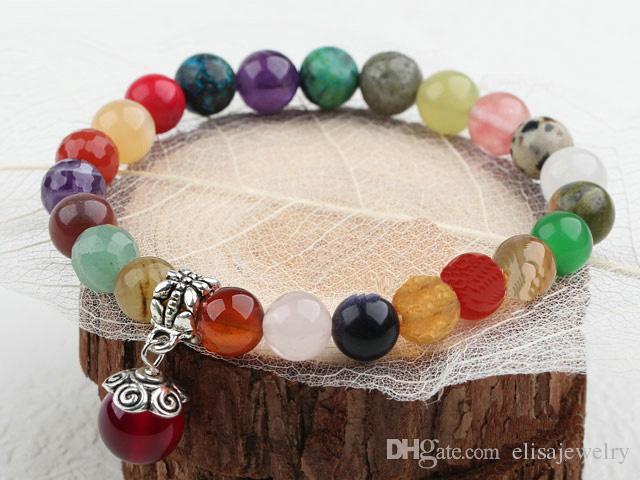 Gioielli fai-da-te Gemme fatte a mano Bracciale elastico, realizzato in agata, cristallo, venduto da PC