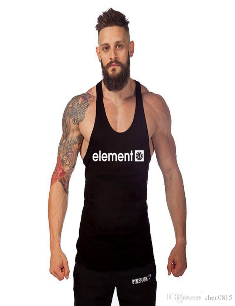 1d28ec6eff021 2019 Wholesale Men S Tank Tops Muscle Stringer New Muscle Dog Cotton Body  Building And Fitness Pro Combat Vests Clothing Size M XXL From Chen0815