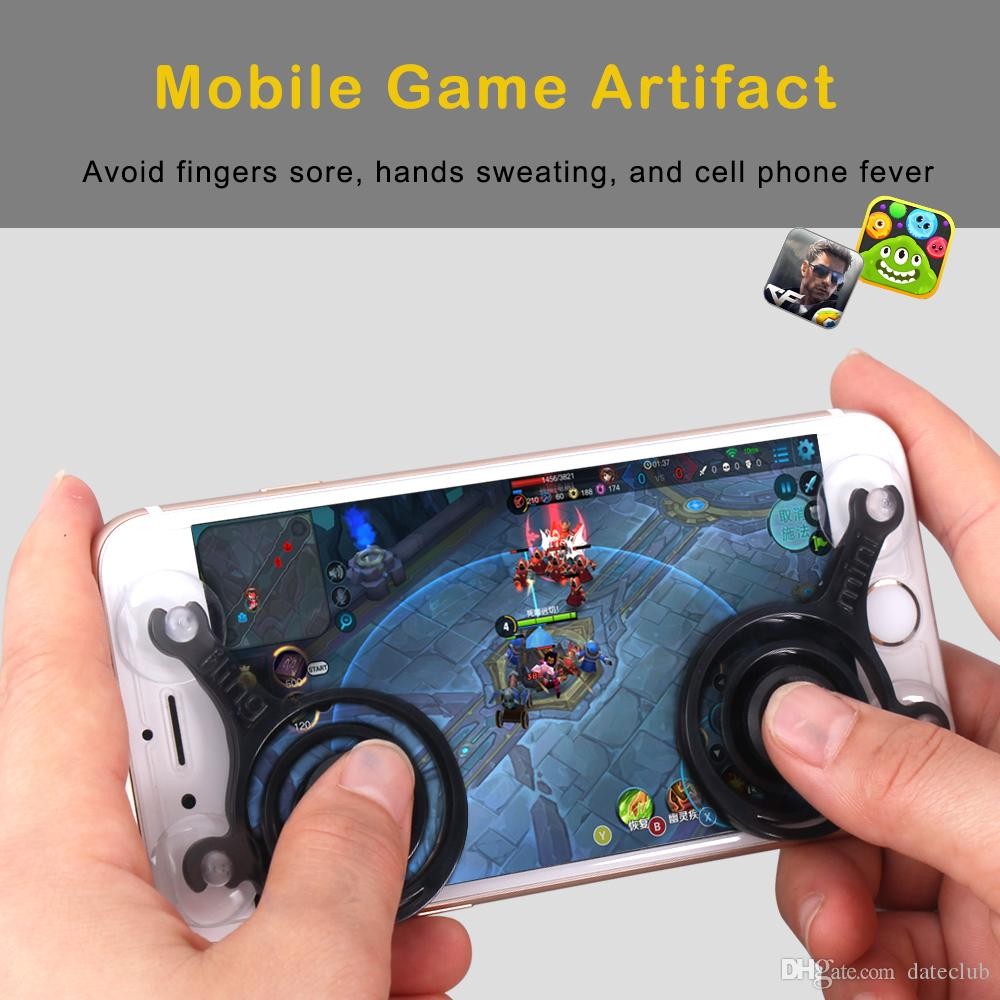 2 teile / satz spiel mobile joystick telefon mini spiel rocker touchscreen joypad tablet sucker wireless game controller für ipad iphone handy