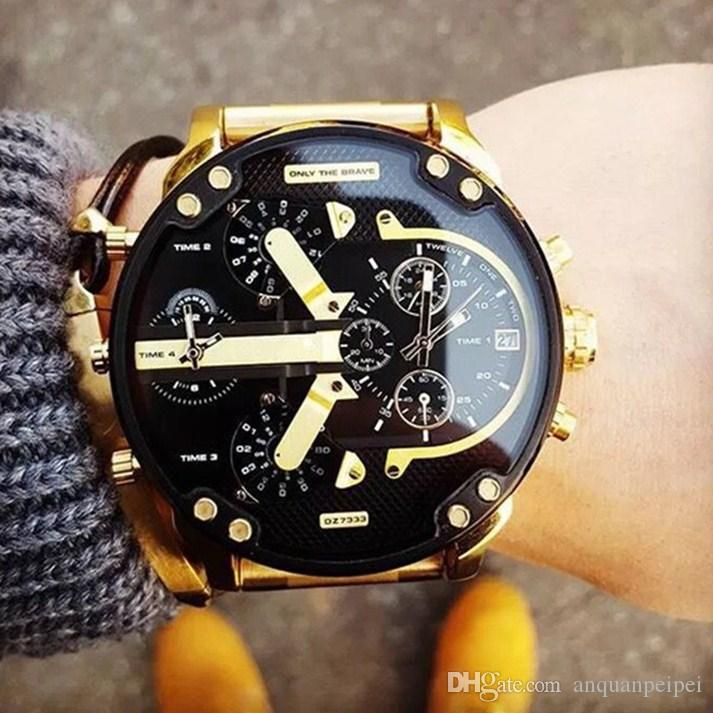 large on military famous watch men watches quartz army masculino casual oulm male brand luxury relogio wristwatches from big item in s
