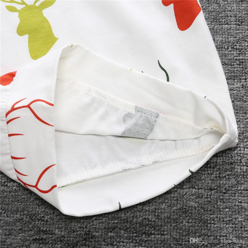 Nouveau-né Printemps Automne INS Bébé Vêtements De Noël Cerf À Rayures À Capuche + Long Pantalon Enfants Rayé Tenues Ensembles Livraison Gratuite A01