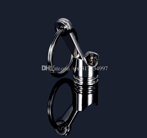 Vendita calda 2016 Fashion Engine Piston Keychain Cromo lucido Creativo Hot Auto Parts Modello Portachiavi Key Fob Portachiavi
