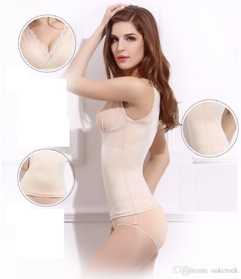 moldeadores corporales camisola tejido delgado sin costuras permeabilidad buena elasticidad corsé corporal es M L XL modelador